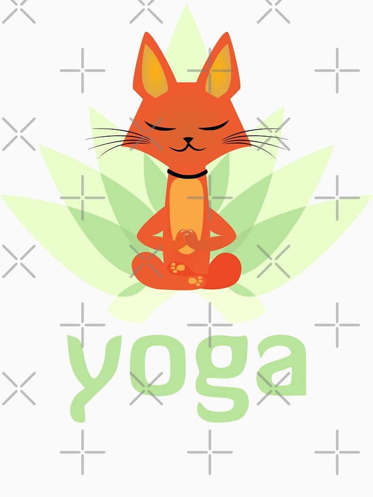 Yoga cat by mickydee.com by MickyDeeTees