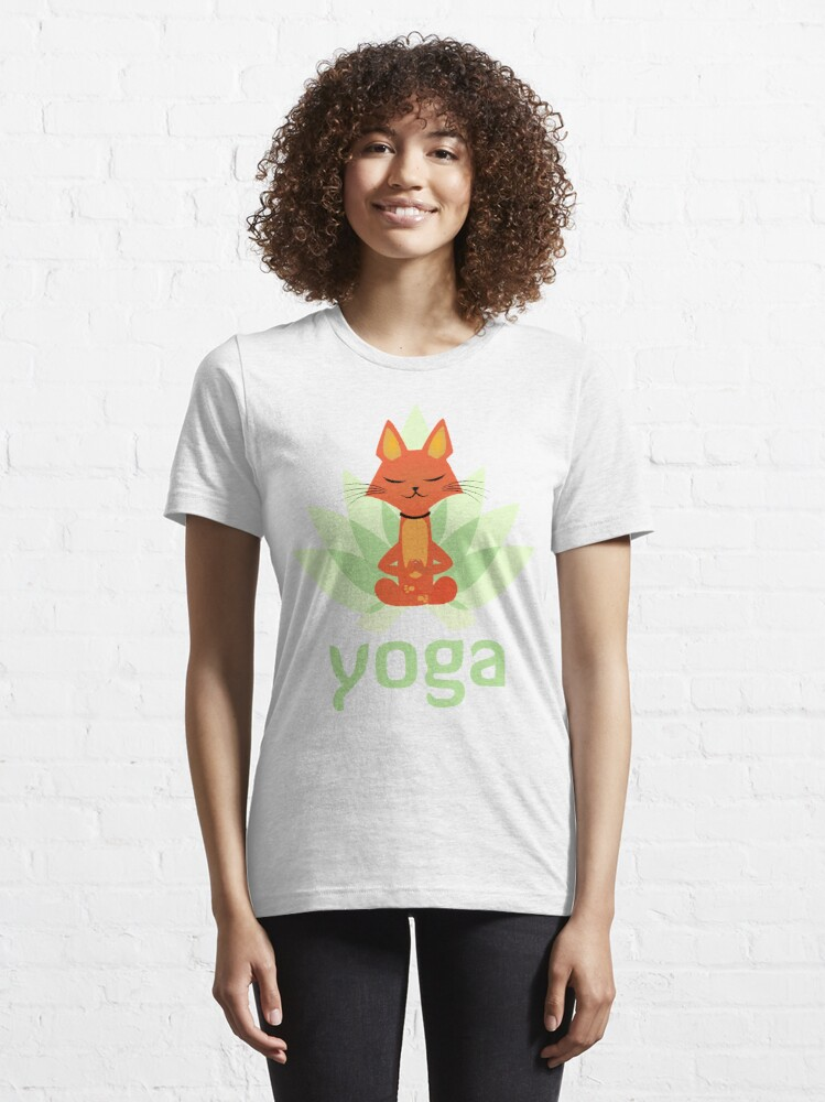 Alternate view of Yoga cat by mickydee.com Essential T-Shirt