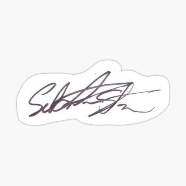 Sebastian Stan Signature Sticker
