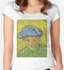 Vincent Van Gogh - Portrait of Camille Roulin, November 1888 - December 1888 Women's Fitted Scoop T-Shirt