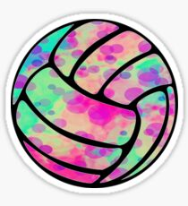 Rainbow Bubble Volleyball Sticker