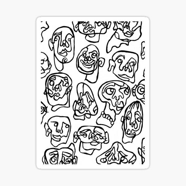 Anonymity doodle Sticker
