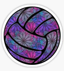 Purple Flower Volleyball Sticker