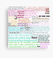 The Office Quotes Metal Print