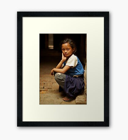 Nine Years Old Going on 29 Framed Print