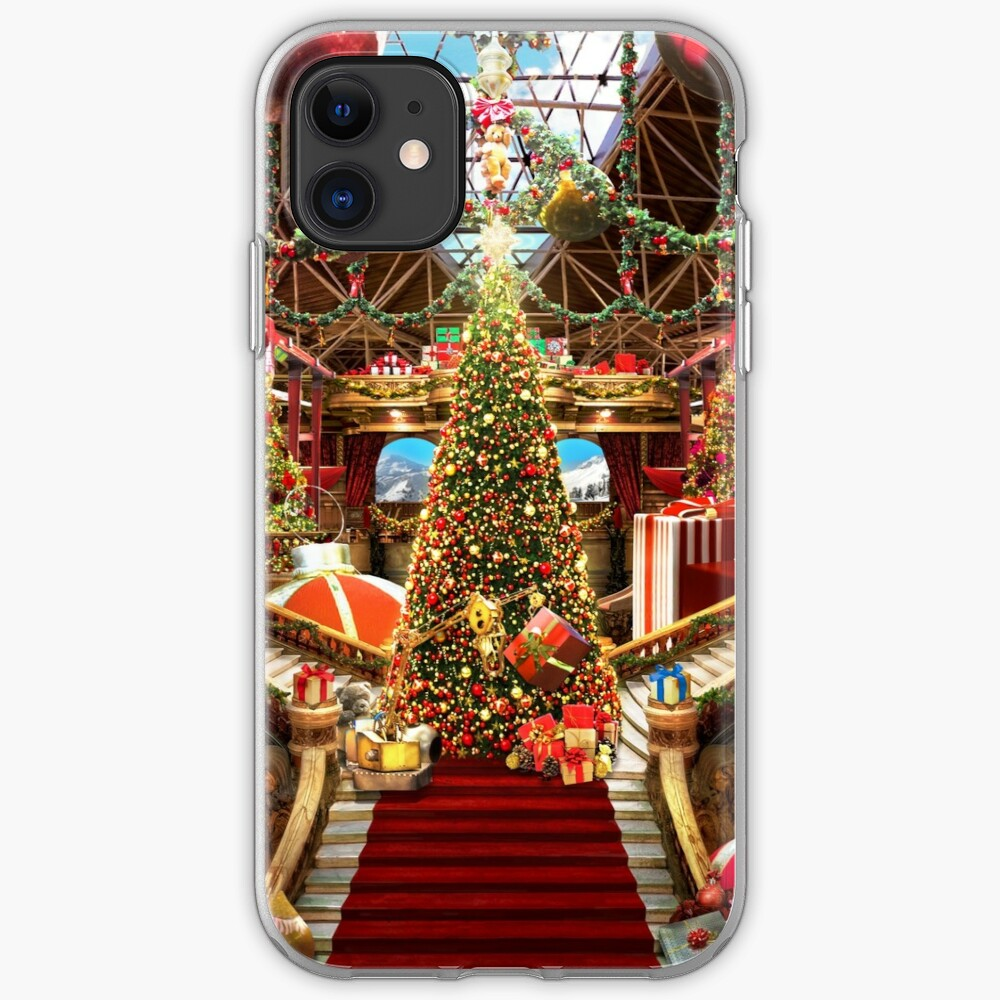 Santas Workshop - Christmas Holiday Art iPhone Case & Cover
