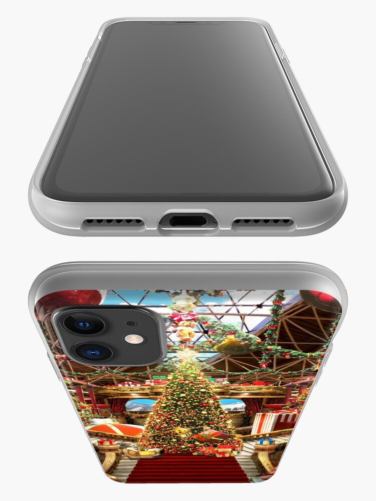 Alternate view of Santas Workshop - Christmas Holiday Art iPhone Case & Cover
