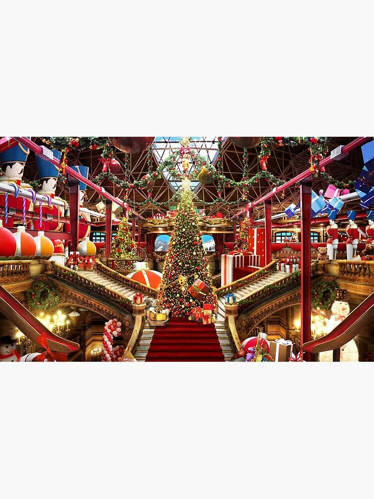 Santas Workshop - Christmas Holiday Art by EPMattson