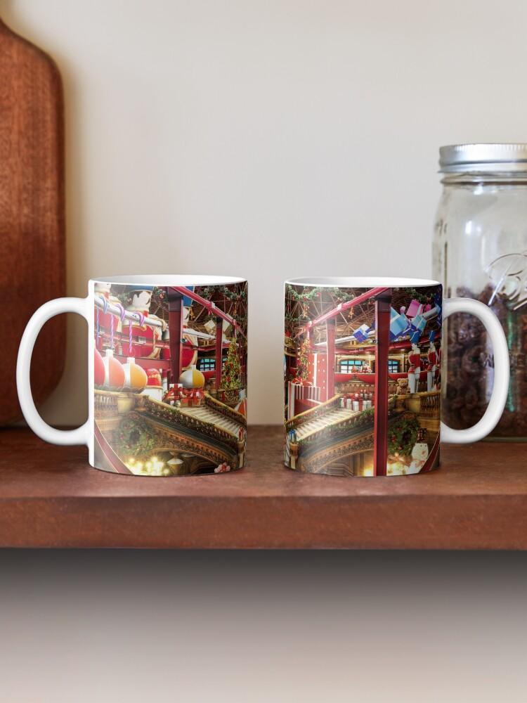 Alternate view of Santas Workshop - Christmas Holiday Art Mug