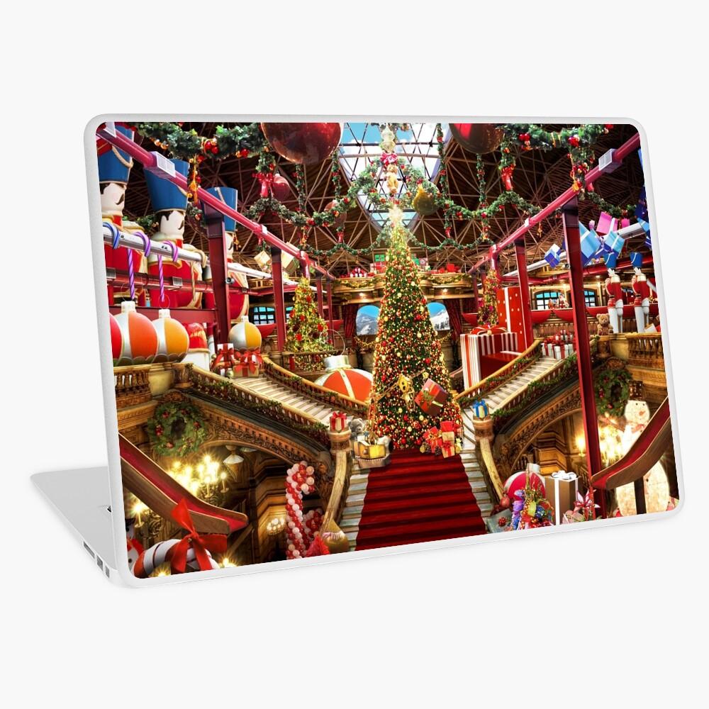 Santas Workshop - Christmas Holiday Art Laptop Skin
