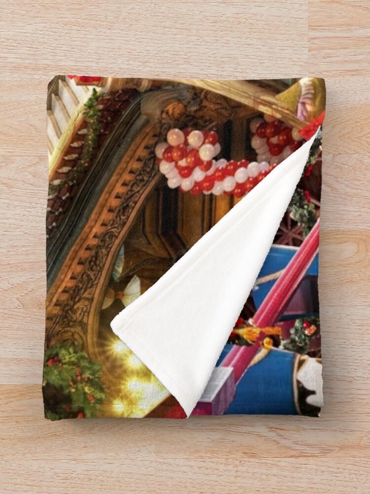 Alternate view of Santas Workshop - Christmas Holiday Art Throw Blanket
