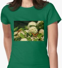 Nectaring Pearl Crescents Womens Fitted T-Shirt
