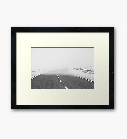 Line in the Sand Framed Print
