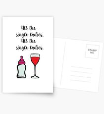 All The Single Ladies Postcards