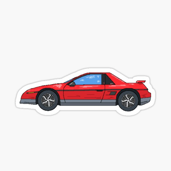 Red Fiero Notchback GT  Sticker