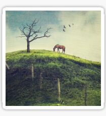 Horse on a Colombian Hillside Sticker