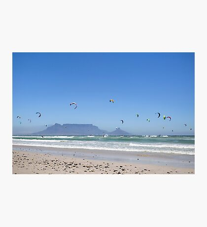 Kitesurfing Cape Town, South Africa Photographic Print