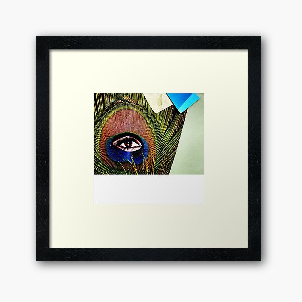 """""""Eye of the Feather""""  Framed Art Print"""