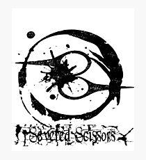 Severed Scissors Logo Photographic Print