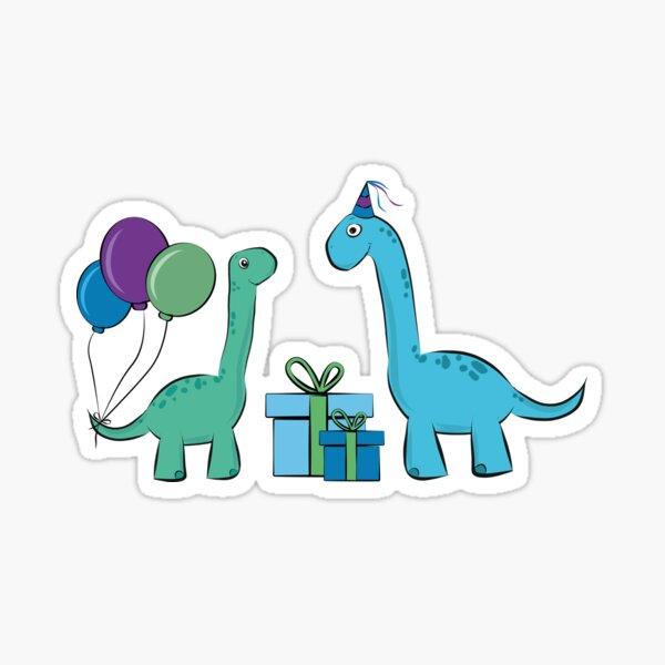 lustige Party Langhals Dinosaurier Sticker