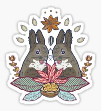 squirrel love Sticker