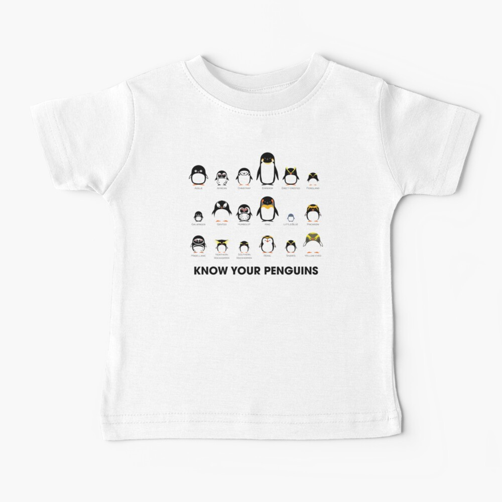 Know Your Penguins Baby T-Shirt