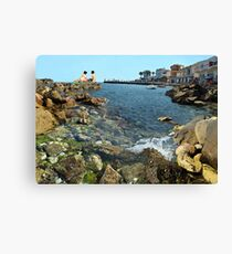 Relax rest on a beach. Canvas Print