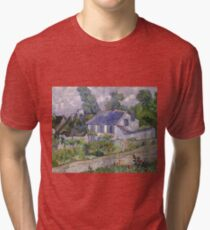 Vincent Van Gogh - Houses at Auvers, December 1885 - February 1886 Tri-blend T-Shirt