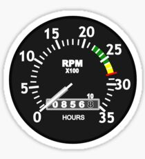 TACHOMETER, RPM, SPEED, RACE, MOTORSPORT, RACING, SPEEDOMETER, REV COUNTER Sticker