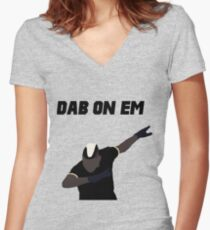 Pogba - Dab on Em Celebration minimalist Women's Fitted V-Neck T-Shirt