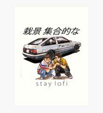 Initial LoFi Art Print