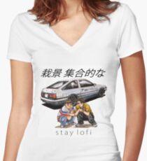 Initial LoFi Women's Fitted V-Neck T-Shirt
