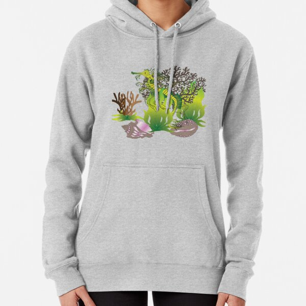 A leafy Sea Dragon Pullover Hoodie