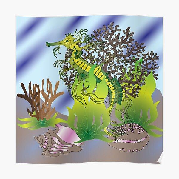 A leafy Sea Dragon Poster