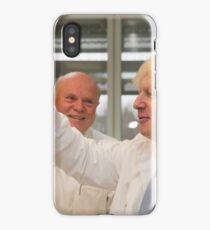 Boris Johnson with chief scientist Tony Ford iPhone Case/Skin