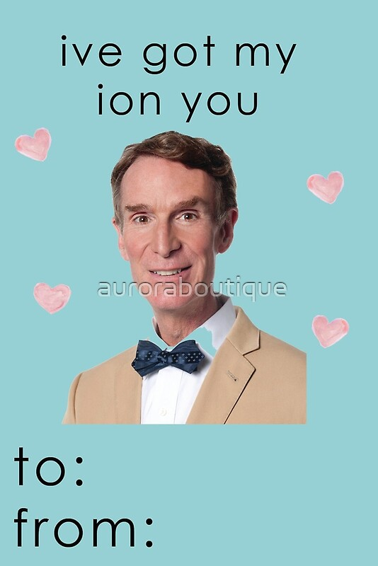 Bill Nye The Science Guy Valentine Card By Auroraboutique