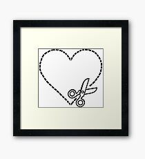 Cut My Heart Out Framed Print