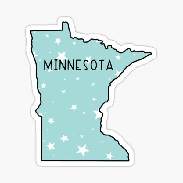 Minnesota Light Teal Star  Sticker