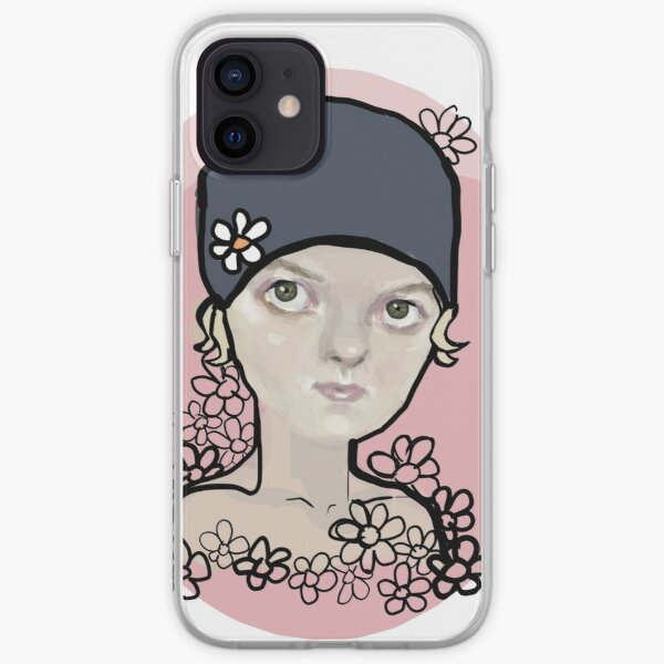 Hats and Scribbly Flowers iPhone Soft Case