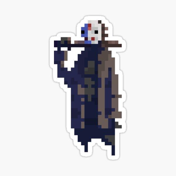 Jason Voorhees in pixels Sticker