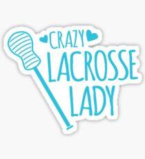 Crazy Lacrosse Lady Sticker