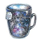 Aquarius Galaxy Constellation Mug by Willow Heath