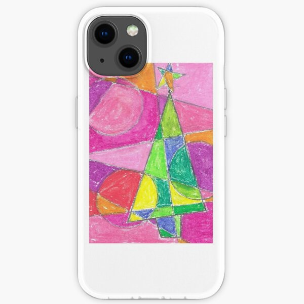 Christmas card Pink and Green iPhone Soft Case