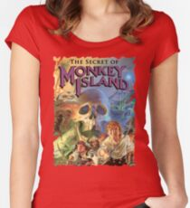 Monkey Island Women's Fitted Scoop T-Shirt