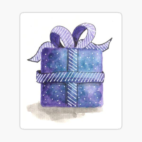 Gift (purple) Sticker