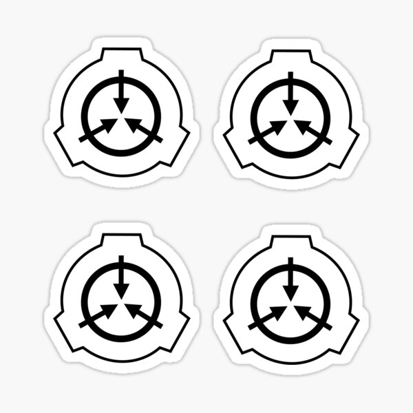 SCP Logo- Pack of 4 stickers Sticker