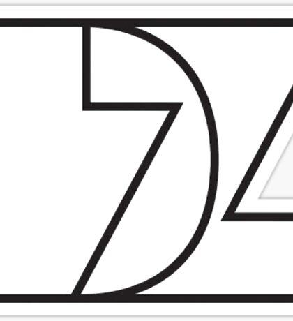 Delta Zeta (b&w) Sticker