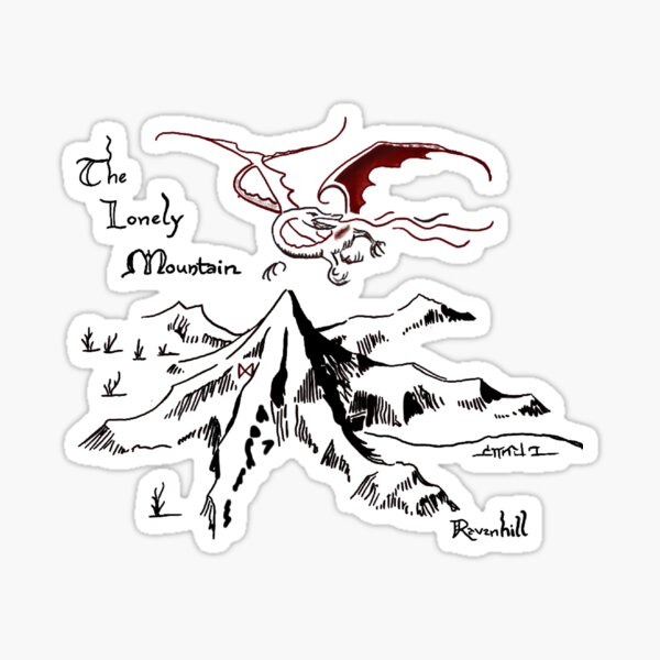 Dragon's Hoard in a Solitary Mountain Sticker
