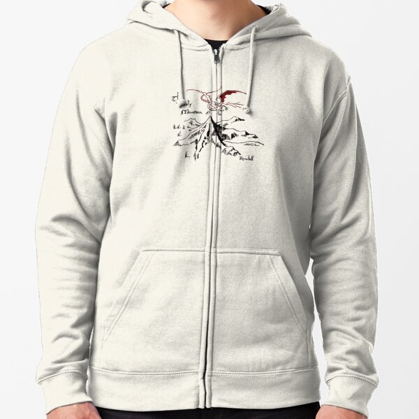 Dragon's Hoard in a Solitary Mountain Zipped Hoodie
