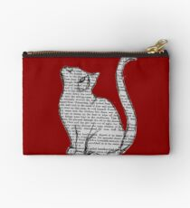 books and cats and books and cats Studio Pouch